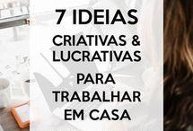 IDÉIAS DE TRABALHO EM CASA