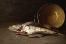 Emil Carlsen Fish / Emil Carlsen Fish Still Life