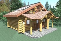 The Bunk House - 513 sq ft / R.C.M. CAD DESIGN DRAFTING LTD is an architectural design firm primarily specializing in log and timber construction projects. We feature over 150 of our most creative designs categorized by living space total square footage.