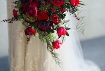 She Said Yes Red / wedding flowers