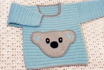 Crochet Patterns - Baby Sweaters / Crochet Pattern with row-by-row instructions and photos.