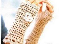 Guanti, scaldapolsi crochet