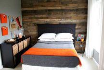 ideas for teenage boy's bedroom / by Lynn Tomlinson