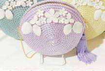 bolso para fiesta con cordon de seda