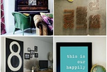 Home Decor: Typography / An idea board for home decor items that utilize typography in some way.