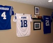 Indianapolis Colts / Indianapolis Colts jerseys displayed on the Ultra Mount jersey display hanger. A great affordable alternative to jersey frames.