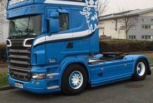 T SCANIA TRUCKS T (TopLine) series / Trucks of the Swedish brand SCANIA,TopLine series.