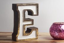 Initials - Home Decor / Decorative Letters Home Decor: Discover unique Letters & Initials at Casa Decor Store, including the seasons newest arrivals.