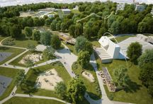 AREAL FOR SPORT, RECREATION AND ACTIVE LEISURE IN HAVÍŘOV / THE PROJECT OF REVITALIZATION AN UNEXPLOITED AREA TO RECREATION AREAL with aquapark, play grounds, summer cinema, nature trail