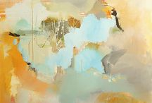 """Chris Kennedy / """"I began my exploration of landscapes and abstraction in early 2009. As I began painting with traditional brush, memories of the countryside in the United Kingdom began to flood back, and I found myself painting from these memories. The work you see today is the result of these memories, emotions, colors, and layers all filtered through my mind and on to the canvas.......Chris Kennedy"""