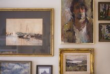 Art on Walls / Photos of art showing styles and frames hung in homes.