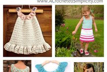 Crochet little dress