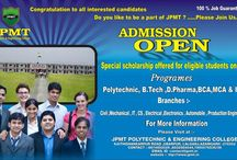 Top Polytechnic college in azamgarh / JPMT Group of educational society offer all candidate for join us for best education in JPMT Polytechnic & Engineering college, Lalganj, Azamgarh