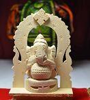 Ganesha made by tree root