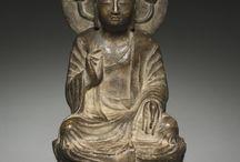 Buddha & friends / Buddha & Bodhisattva & Dharma