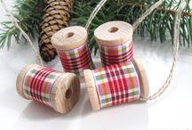 Decos de Noël avec des bobines de fils