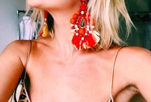 Oversize earrings