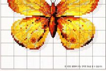 cross stitch insects