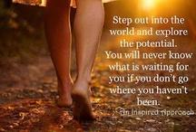 Inspiration & Motivation / quotes, live, enjoy, overcoming...