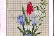 Korsstygn Blommor D 602