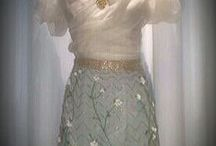 Green skirt (luneville&embroidery)