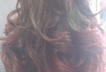 Hair done by me. @ Frantic Fringe / Frantic Fringe hair salon. Coachmans crossing Peterplace dr Bryanston.