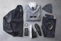 Black Blue White Grey