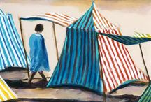 Hail to the Beach: Paintings by Dinah Maxwell Smith / This exhibit features Dinah Maxwell Smith's paintings of Long Island beach scenes. It will open on Saturday June 7th and close on October 18th