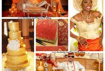 Nigerian Wedding Color Schemes / Some of the most beautiful, vibrant Nigerian wedding color combination ideas.....