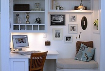 Office in living room
