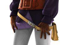 Final Fantasy III & IV  - Characters Art