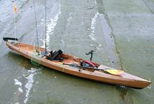 Wooden kayak