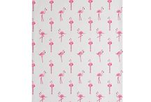 Flamingos Collection / This punchy pink Flamingo design showcases the pink hues of the Flamingo birds against a chalk grey background colour.   Sophie's fun illustrations highlight the elegant long necks and quirky Flamingo shape. You'll find a range of practical kitchen fabrics, plenty of gifts for kids and other homewares to add a splash of pink to your home.   Everything from cushions and oven gloves to kids melamine and stationery.