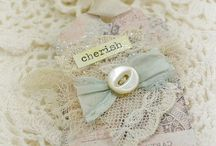 Tags / paper, fabric & mixed media ... all so very pretty!