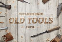 Old Tools Scene Header Creator / Old Tools Scene Header Creator is creative Photoshop file with a lot of old tools that will help you make beautiful images, save money, time and impress your customers.