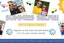 #OfficeworxSunnies / Tweet us @officeworx 'Sunnies Selfie' using the hashtag #OfficeworxSunnies  Impress us the most and we'll donate £200 to your chosen charity ...  *Winner will be announced via Twitter @ 12pm 26th August 2016.  *Officeworx sunglasses only.