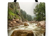 Tote Bags / Beautiful colorful nature landscape tote bags.