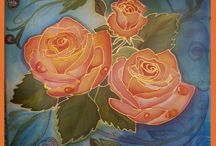 Шелковая роспись / Мои работы на искусственном и натуральном шелке.