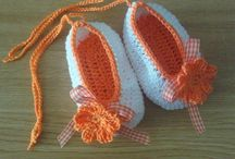 buciki  / wykonane na szydełku