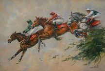 Horses In Art- Jump Racing Scenes