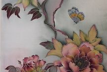 цветы вышивка,батик.
