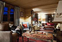 Interiors. Modern wood houses
