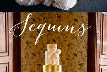 Sparkling glitter wedding