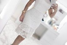 Vestido branco com babado