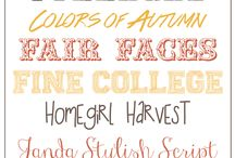 Graphic Design - Fonts