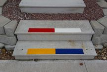 Safety, Reflective, Skid Resistent Stair Strips / These safety strips can be applied on stairs, curbs, or anywhere you need caution and skid resistance from the weather.