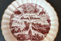 Vintage Souvenir State Plates