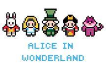 ALICIA IN WONDERLAND PIXEL ART