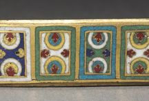 Enamelling - Germanic / Examples of both abstract design and representational enameled pieces, created in the German states (or in that style)