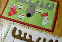 Christmas mugrug